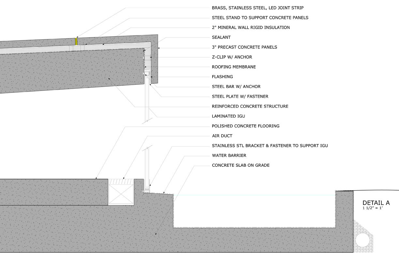 project portfolio wall section. Black Bedroom Furniture Sets. Home Design Ideas